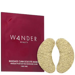 Wander Beauty Baggage Claim Gold Eye Masks - Set of 6 0.84 oz
