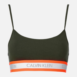 Calvin Klein Women's Neon Detail Unlined Bralette - Duffel Bag