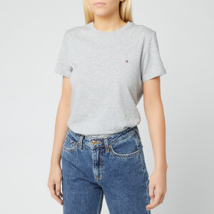Tommy Hilfiger Women's Heritage Crew Neck T-Shirt - Light Grey Heather
