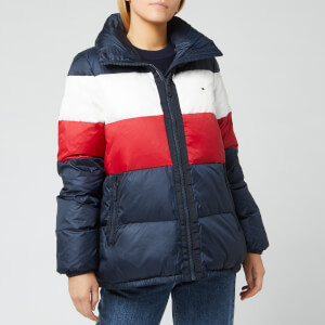 Tommy Hilfiger Women's Naomi Recycled Down Jacket - Rwb Colour Block