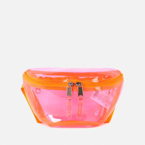 Eastpak Women's Authentic Transparent Springer Bum Bag - Fluo Pink Film