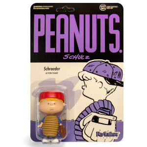 Super7 Peanuts Baseball Schroeder Reaction Figure