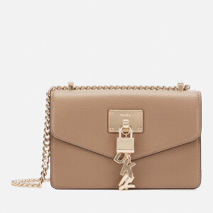 DKNY Women's Elissa Small Shoulder Flap Bag - Dune