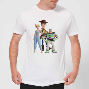 Toy Story 4 Woody Buzz And Bo Men's T-Shirt - White