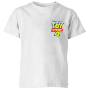 Toy Story 4 Pocket Logo Kids' T-Shirt - White