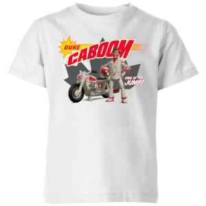 Toy Story 4 Duke Caboom King Of The Jump Kids' T-Shirt - White