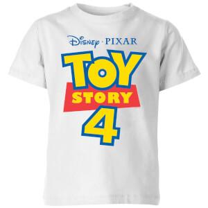 Toy Story 4 Logo Kids' T-Shirt - White