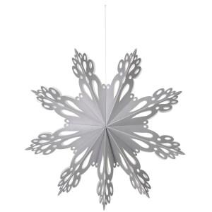 Broste Copenhagen Paper Snowflake Christmas Decoration - Large - Silver