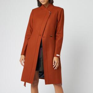 Ted Baker Women's Ellgenc Long Belted Wrap Coat - Tan
