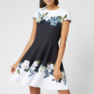 Ted Baker Women's Louva Opal Printed Skater Dress - Black