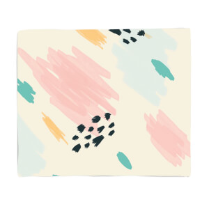 Abstract Pen Marks Fleece Blanket