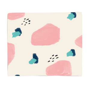 Pink And Green Marks Fleece Blanket