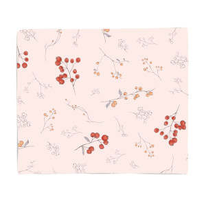 Berry And Flowers Fleece Blanket