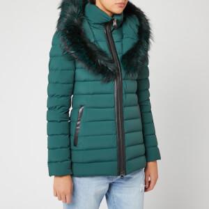Mackage Women's Kadalina Fur Trim Coat - Green