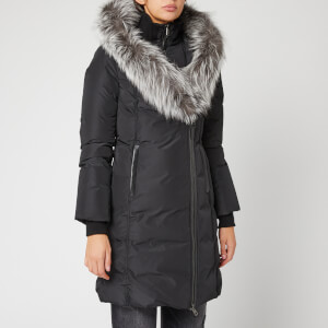 Mackage Women's Kay Long Classic Down Coat - Black/Silver