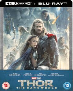 Thor: The Dark Kingdom 4K Ultra HD - Zavvi Exklusives Steelbook