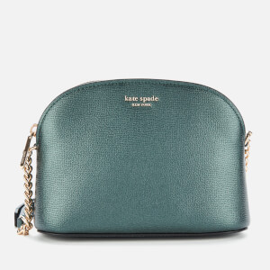 Kate Spade New York Women's Sylvia Small Dome Cross Body Bag - Deep Evergreen Metallic