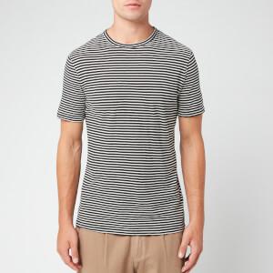 Officine Generale Men's Japanese Stripe Short Sleeve T-Shirt - Black/White