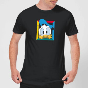 Disney Donald Face Men's T-Shirt - Black