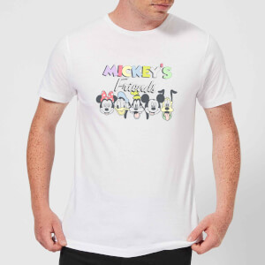 Disney Mickey's Friends Men's T-Shirt - White