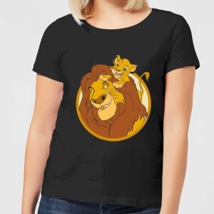 Disney Mufasa & Simba Women's T-Shirt - Black