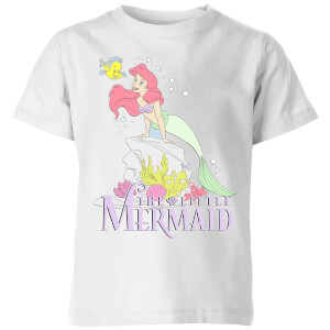 Disney Little Mermaid Kids' T-Shirt - White
