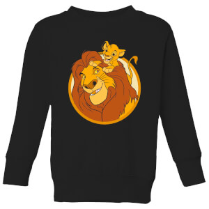 Disney Mufasa & Simba Kids' Sweatshirt - Black