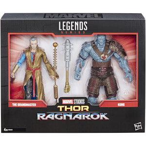 Marvel Legends Thor: Ragnarok - Coffret de 2 figurines collection 15 cm Grandmaster et Korg