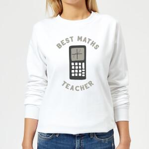 Best Maths Teacher Women's Sweatshirt - White