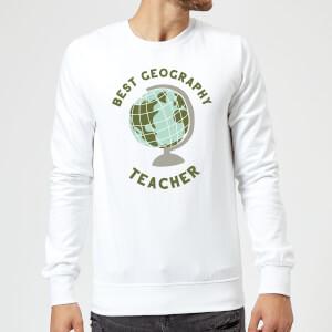 Best Geography Teacher Sweatshirt - White