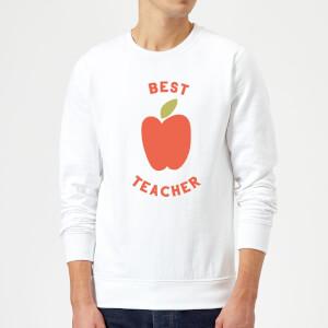 Best Teacher Apple Sweatshirt - White