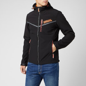 Superdry Men's Hooded Paralex Windtrekker Jacket - Jet Black
