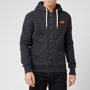 Superdry Men's Orange Label Classic Zip Hoody - Nightshade Black Marl
