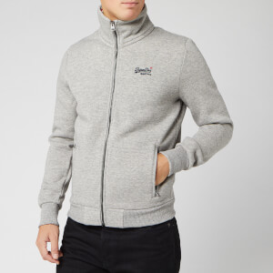 Superdry Men's Orange Label Track Top - Jasper Grey Grindle