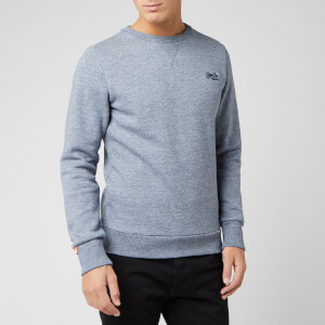 Superdry Men's Orange Label Crew Sweatshirt - Creek Blue Grindle