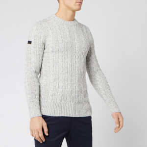 Superdry Men's Jacob Crew Neck Jumper - Concrete Twist