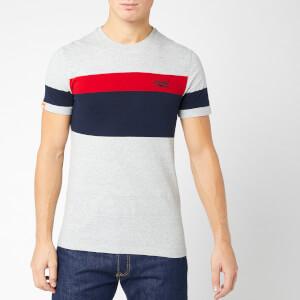 Superdry Men's Orange Label Chestband T-Shirt - Downhill Grey Marl