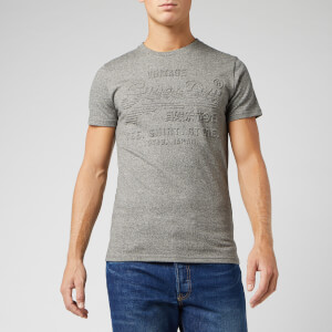 Superdry Men's Shirt Shop Embossed T-Shirt - Jasper Grey