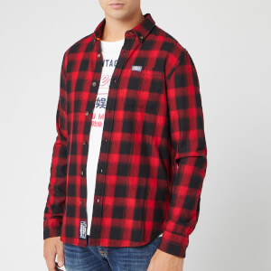 Superdry Men's Workwear Long Sleeve Shirt - Red Check