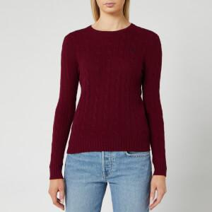 Polo Ralph Lauren Women's Julianna Classic Long Sleeve Sweater - Burgundy