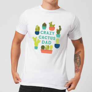Crazy Cactus Dad Men's T-Shirt - White