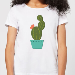 Single Potted Cactus Women's T-Shirt - White