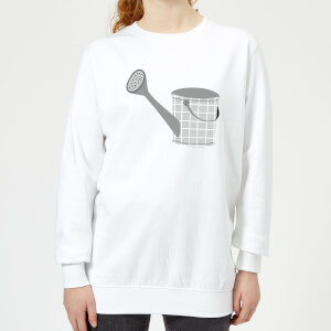 Watering Can Women's Sweatshirt - White