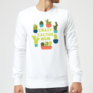 Crazy Cactus Mum Sweatshirt - White