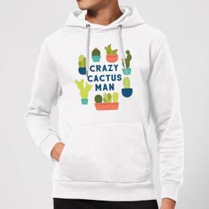 Crazy Cactus Man Hoodie - White