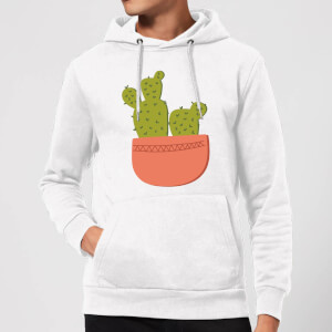 Two Potted Cacti Hoodie - White