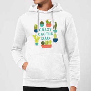 Crazy Cactus Dad Hoodie - White