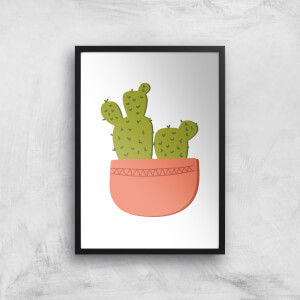 Two Potted Cacti Art Print