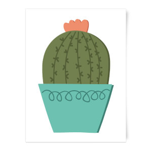 Cactus With Flower Art Print