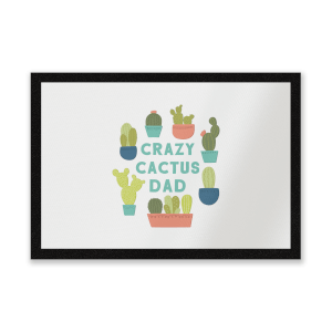 Crazy Cactus Dad Entrance Mat